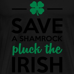 Iren & Pflanzen - Save a Shamrock pluck the Irish Tops - Männer Premium T-Shirt