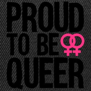 proud to be queer - lesbian Tops - Snapback Cap