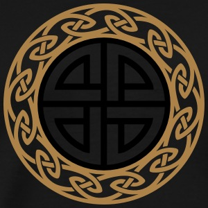 Celtic Shield Knot, Protection, Four Corner, Norse T-shirts - Herre premium T-shirt