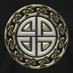 Celtic shield knot, Protection Amulet, Viking T-shirts - Herre premium T-shirt