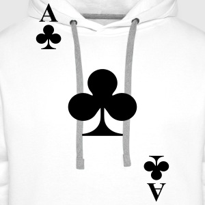 Ace of clubs Tops - Men's Premium Hoodie