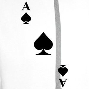 Ace of spades diagonal Tank Tops - Men's Premium Hoodie