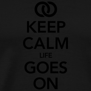 Marriage  - Life Goes On T-shirts - Mannen Premium T-shirt