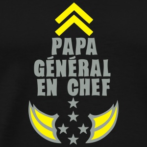 papa general chef arme etoile 5 Tee shirts - T-shirt Premium Homme