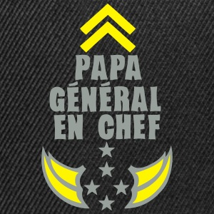 papa general chef arme etoile 5 Tee shirts - Casquette snapback