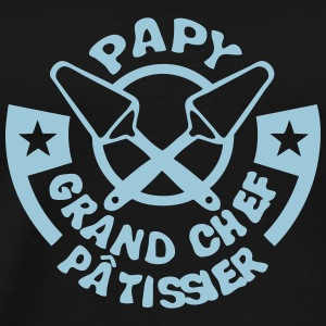 papy chef patissier logo pelle tarte Tee shirts - T-shirt Premium Homme