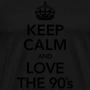 Keep Calm And Love The 90´s Singlets - Premium T-skjorte for menn