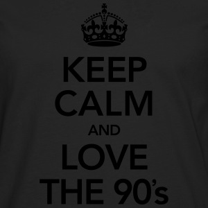 Keep Calm And Love The 90´s Magliette - Maglietta Premium a manica lunga da uomo