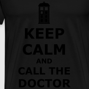Keep calm and call the doctor Tops - Mannen Premium T-shirt