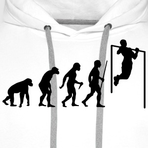 Evolution Pull Up T-Shirts - Men's Premium Hoodie