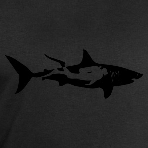 scuba diving diver shark jaws whale dolphin T-Shirts - Men's Sweatshirt by Stanley & Stella