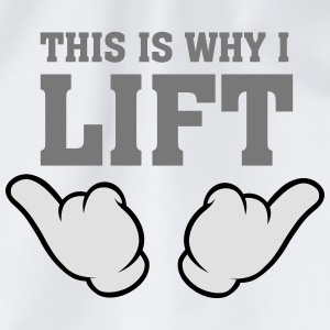 This Is Why I Lift (Comic Hands) T-Shirts - Turnbeutel