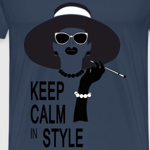 keep calm in style Topper - Premium T-skjorte for menn
