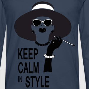 keep calm in style Tops - Camiseta de manga larga premium hombre