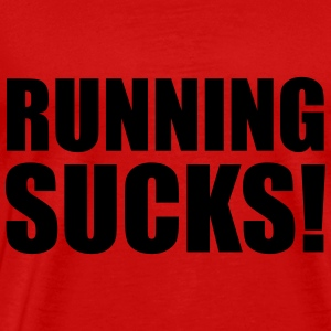 Running Sucks Toppar - Premium-T-shirt herr
