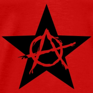 Star Anarchy chaos rebel revolution protest black  Topper - Premium T-skjorte for menn