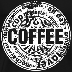Coffee lover (worn-out) Tops - Camiseta premium hombre
