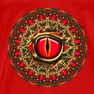 Dragon eye dragoneye fantasy Tops - Mannen Premium T-shirt