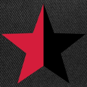 Anarchy Star Rebel Revolution Fight Left Red Black T-Shirts - Snapback Cap