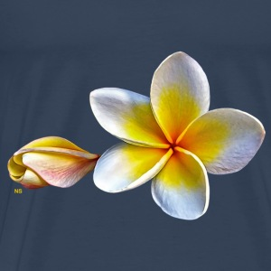White plumeria or frangipani Tops - Men's Premium T-Shirt