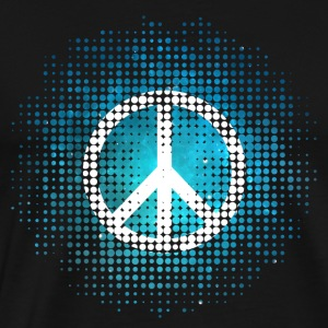 Peace Symbol Love Harmony Freedom Dots Summer T-shirts - Herre premium T-shirt