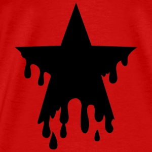 Star punk blood anarchy symbol revolution against Topper - Premium T-skjorte for menn