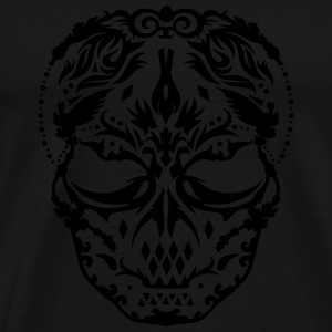 A skull mask with ornaments  T-Shirts - Men's Premium T-Shirt