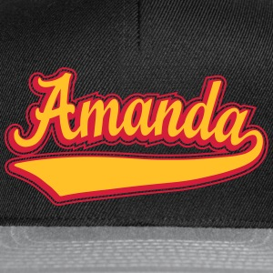 Amanda - Name as a sport swash. Tops - Snapback Cap