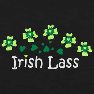 Irish Lass Heart Clover patjila Tops - Men's Premium T-Shirt