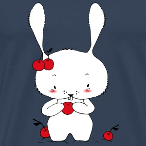 A little bunny eating cherries Tops - Men's Premium T-Shirt