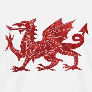 Welsh Red Dragon Tops - Men's Premium T-Shirt