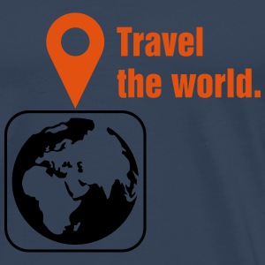 Travel the world Top - Maglietta Premium da uomo