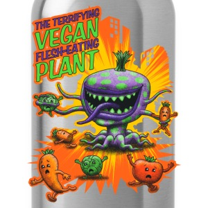 Svart The Terrifying Vegan Flesh Eating Plant Singlets - Drikkeflaske