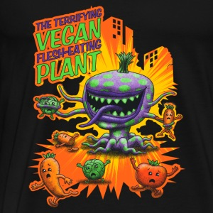 Svart The Terrifying Vegan Flesh Eating Plant Singlets - Premium T-skjorte for menn