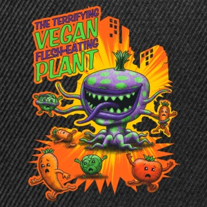 Negro The Terrifying Vegan Flesh Eating Plant Tank Tops - Gorra Snapback