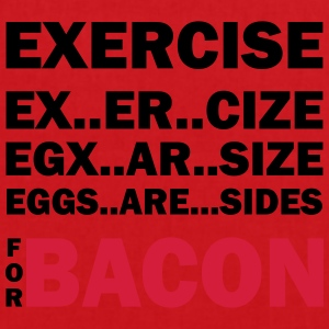 Exercise Or Bacon Tops - Tote Bag