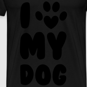 Love My Dog Tops - Mannen Premium T-shirt