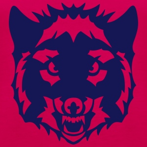 Wolf-wildes Tier 6023 Tops - Frauen Premium Tank Top