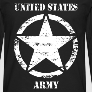 us vintage army star 02 Tee shirts - T-shirt manches longues Premium Homme
