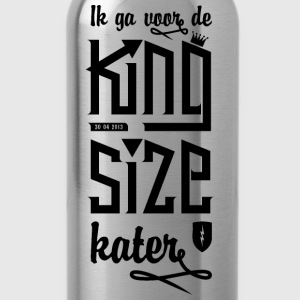 Dames shirt 'King size kater' - Drinkfles