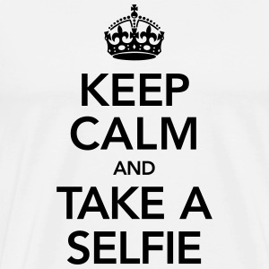 Keep Calm And Take A Selfie Koszulki - Koszulka męska Premium
