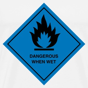 White sign_2c_dangerous_when_wet Ladies' - Men's Premium T-Shirt