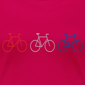 Pink 3 bikes Ladies' - Women's Premium T-Shirt
