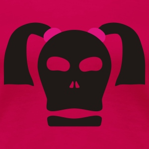 Pink skull with pigtails Ladies' - Women's Premium T-Shirt
