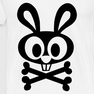 White Bunny and Crossed Bones Ladies' - Men's Premium T-Shirt