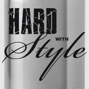 Zwart Hard with Style Dames t-shirts - Drinkfles