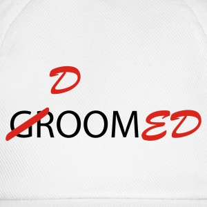White Groom / Doomed (wedding, groom, groom to be, stag  party, honeymoon) T-Shirts - Baseball Cap