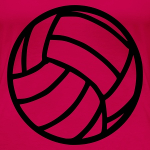 Rosa Volleyball Topper - Premium T-skjorte for kvinner