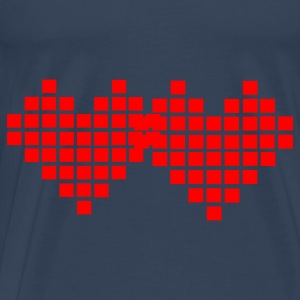Aqua Heart - Pixel Small Ladies' - Men's Premium T-Shirt