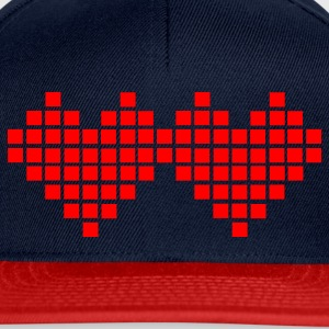 Aqua Heart - Pixel Small Ladies' - Snapback Cap